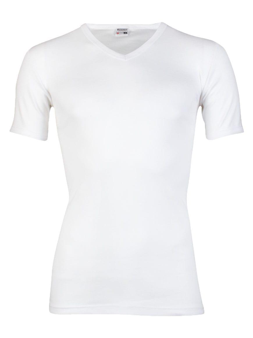 Beeren heren T-Shirt V hals wit