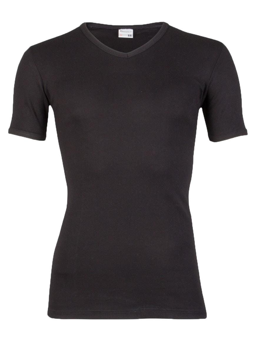 70ec6e36814 Beeren heren T-Shirt V hals zwart
