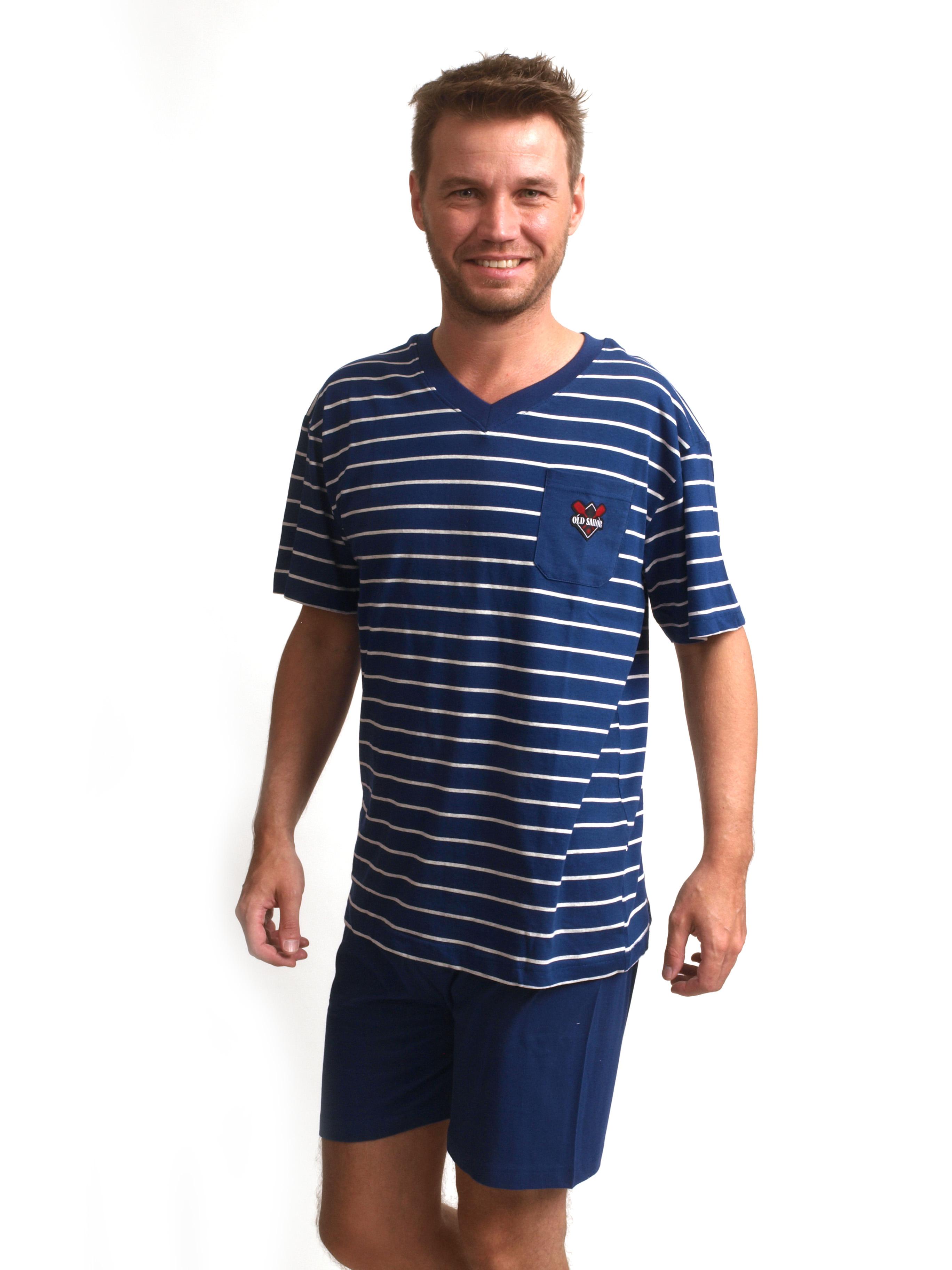 Heren pyjama met korte broek 100%tricot