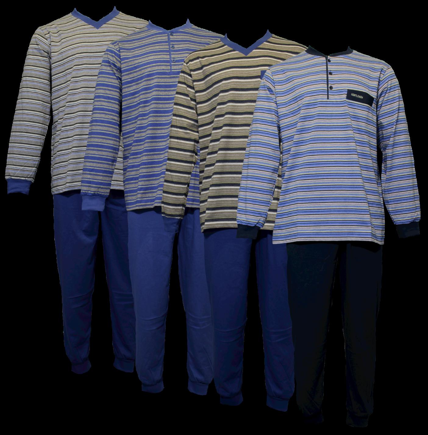 Heren pyjama tricot/jersey